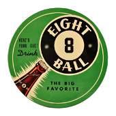 1940's Eight Ball Celluloid Button.