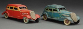 Lot Of 2: Japanese Pre War Tin Litho Automobiles.