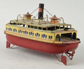 Pre War Japanese Tin Hendrik Hudson Ferry Boat.
