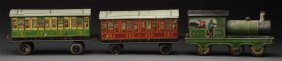 English Tin Litho Passenger Train Biscuit Tin.