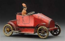 Early English Tin Litho Wind-Up Roadster.