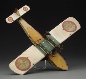 Spanish Tin Litho Rico Wind-up Amphibian Aircraft.