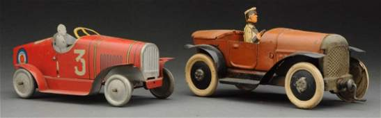 Lot Of 2: Pre War Tin French Race Cars.