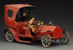 Very Early French Clockwork Automobile Toy.