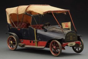German Tin Litho Lehmann Berolina Automobile Toy.