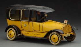 German Tin Litho Lehmann Taxi Cab Toy.