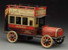 Unusual German Bing Tin Litho Double Decker Bus