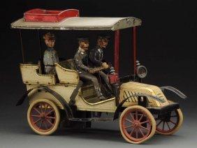 German Tin Litho Clockwork Carette Phaeton Auto.