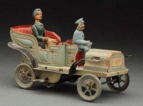 Unusual German Tin Litho Wind-up Automobile.