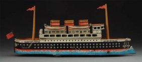 German Tin Litho Wind-up Ocean Liner.