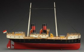 German Schoenner Clockwork River Boat.