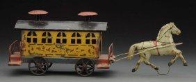 Early American Tin Horse Drawn Trolley.