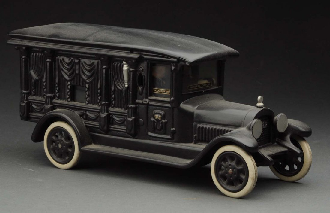 Contemporary Cast Iron Hearse Toy.