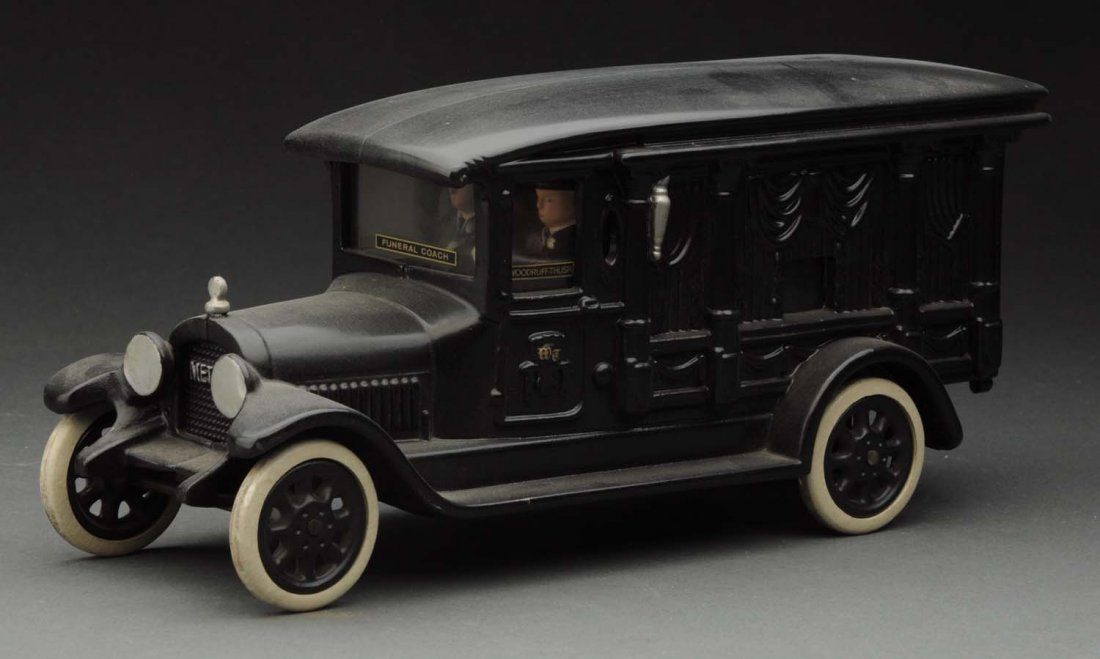 Contemporary Cast Iron Hearse Toy. - 2