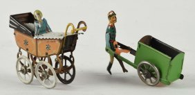 Lot Of 2: German Tin Litho Vehicle Penny Toys.