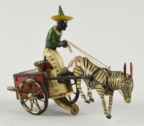 German Lehmann Tin Litho Wind Up Dare Devil Toy.