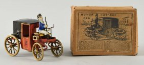 German Lehmann Tin Litho Motorcoach Toy.
