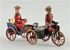 German Lehmann Tin Litho Anxious Bride Toy.