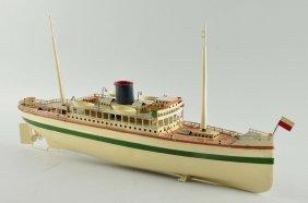 German Fleischmann Ocean Liner Toy Boat.