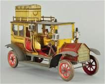 German Tin Litho Clockwork Ebo Limousine Toy Car.