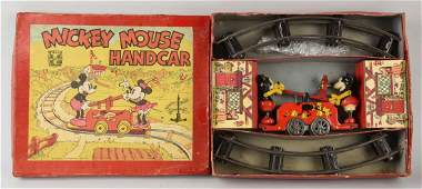English Wells Disney Mickey & Minnie Hand Car.
