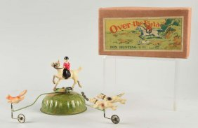 Unusual Pre-war Japanese Celluloid Fox Hunting Toy