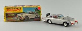 Gilbert Battery-op. Tin & Plastic James Bond Car.