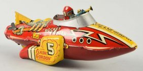 Marx Tin Wind Up Flash Gordon Rocket Fighter Toy.