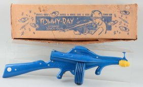Molded Plastic 1950's Tommy-ray Space Gun.