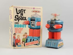 "Remco Battery Op ""lost In Space Robot"" With Box."