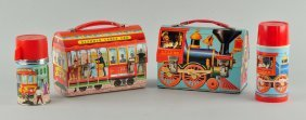 Lot Of 2: Dome Top Lunch Boxes.