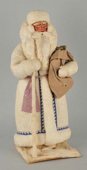 Large Composition & Cotton Santa Claus Figure.