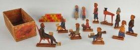 Crandalls Wooden Jointed Teachers & Children.