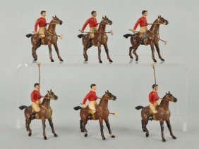 Lot Of 6: Unusual Diecast Polo Player Figures.