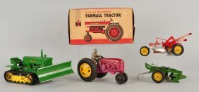 Lot Of 4: American Made Tractor Themed Toys.