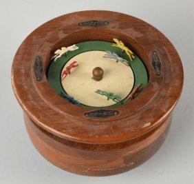 Wooden Horse Race Gambling Bowl Spinner.