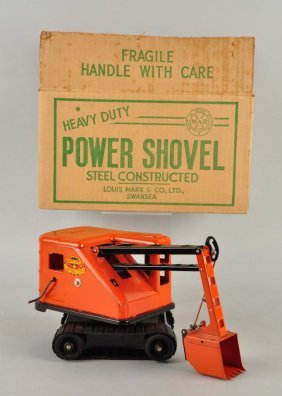 Marx Pressed Steel Heavy Duty Power Shovel Toy.