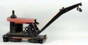 Pressed Steel Buddy L Railroad Crane Car.