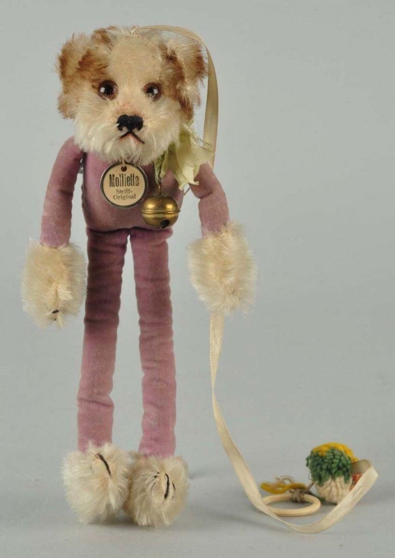 "Steiff Molliette ""Charleston"" Dangling Dog with ID"