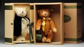 Two Rare Steiff Limited Edition Musical Bears.