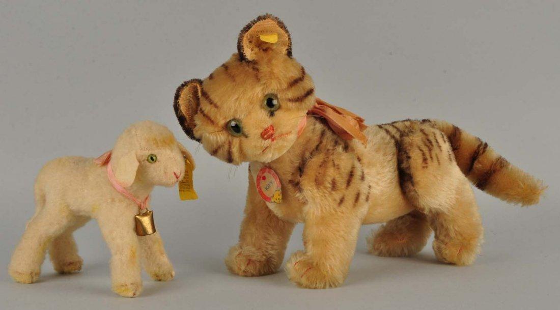 Lot of 2 Early Postwar Steiff Favorite Animals.