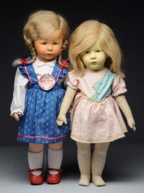 Lot Of 2: Käthe Kruse Dolls.