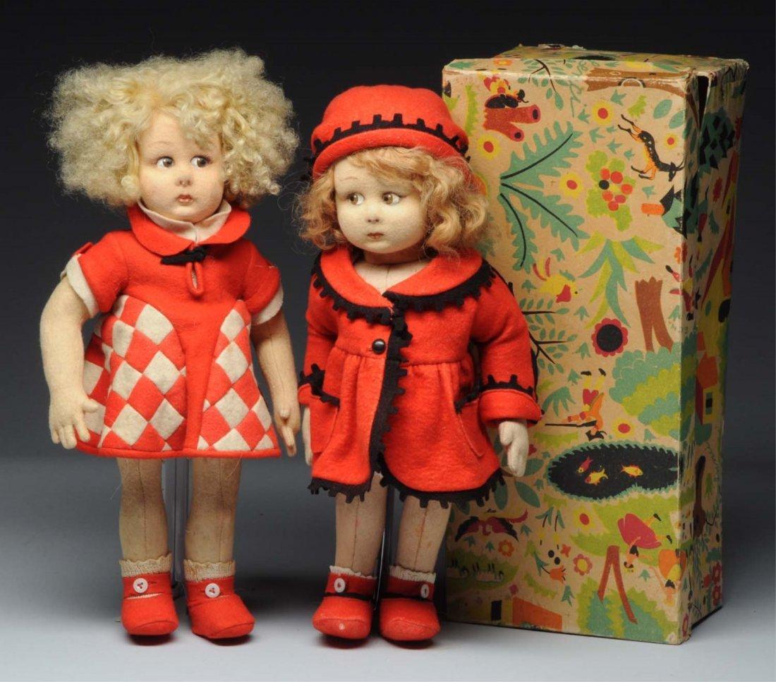 Lot of 2: Lenci Dolls.