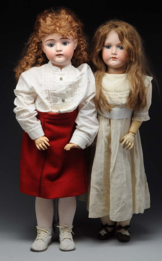 Lot of 2: Bisque Dolls.