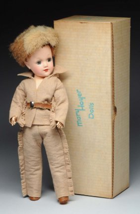 "1950's Boxed 14"" Mary Hoyer Davey Crockette Doll."