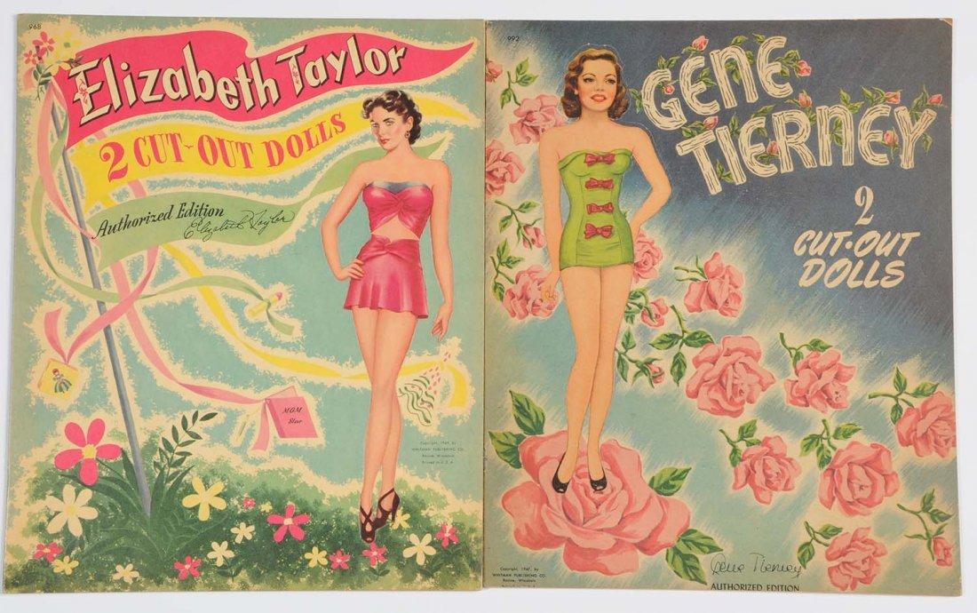 Lot of 2: Vintage Uncut Celebrity Paper Doll Books