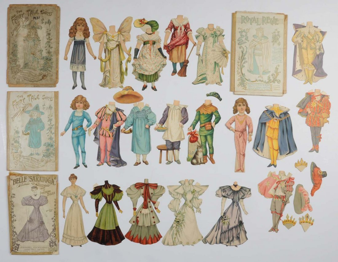 Lot of 4: Raphael Tuck & Sons Paper Doll Sets.
