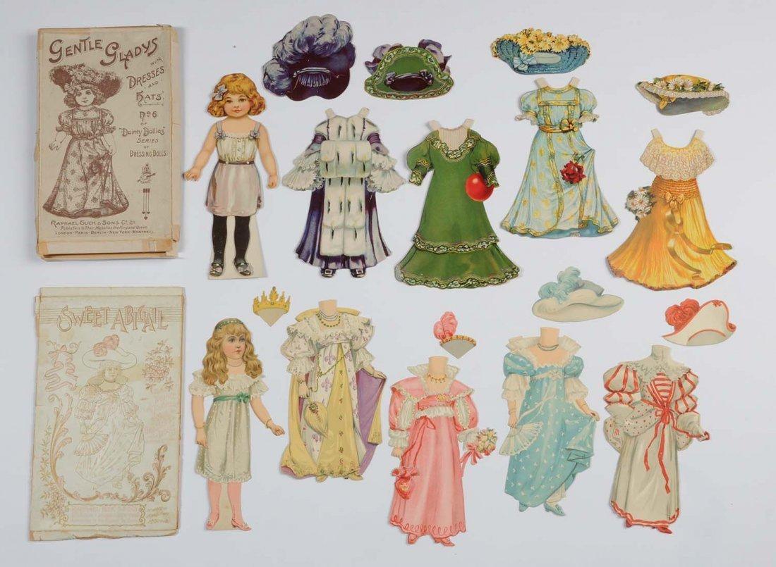 Lot of 2: Antique Raphael Tuck & Sons Paper Dolls.