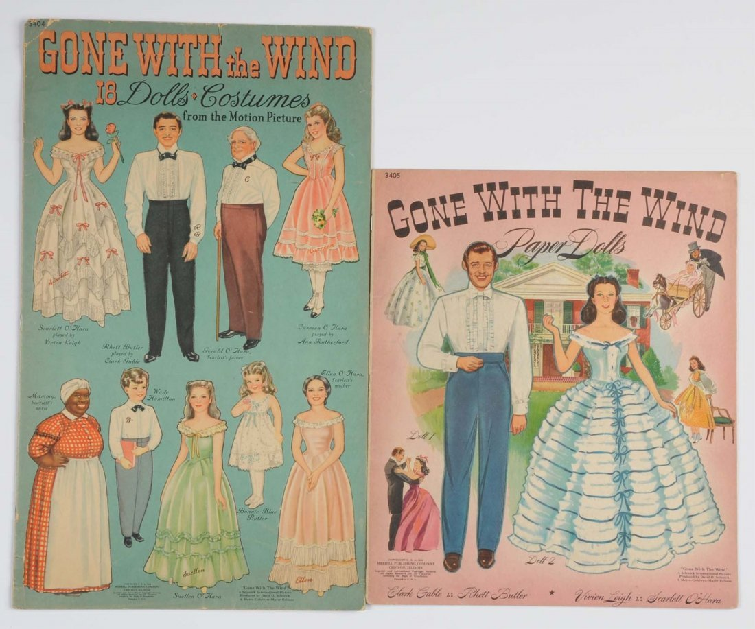 "Lot of 2: ""Gone with the Wind"" Uncut Paper Dolls."