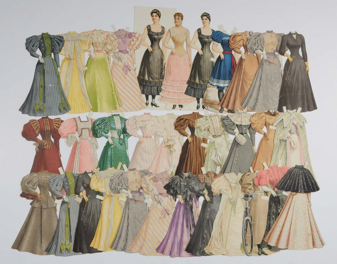 Lot of Boston Herald Lady Paper Dolls.